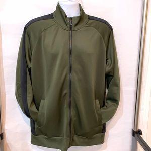Olive green and black track jacket by Jack & Jones